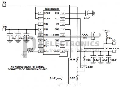 Типовая схема применения ISL73052SEH