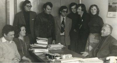 С сотрудниками лаборатории (1979 г.)