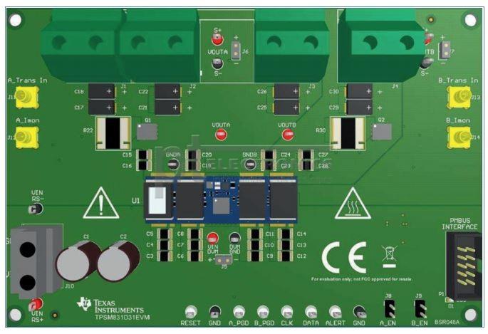 Внешний вид отладочного набора TPSM831D31EVM