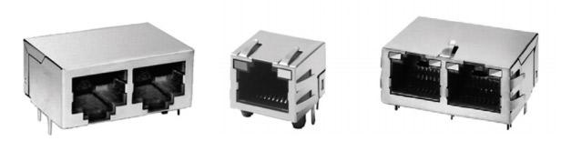 RJ45 и RJ11 модульные разъемы Pulse Electronics