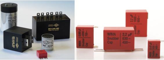Пленочные силовые и снабберные конденсаторы Wima